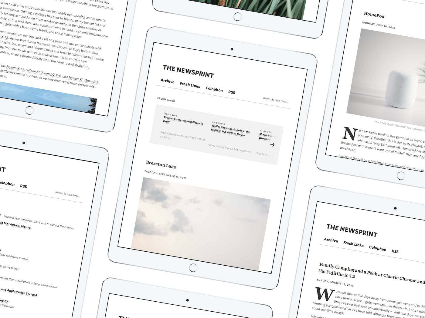 thenewsprint.co on ipads